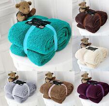 Luxury Double Fleece Blanket Teddy Bear Throw for Sofa Bed Soft Warm 150x200cm
