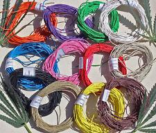 Cáñamo Cable-Hilo 100% Acabado Liso cáñamo Twine 10 Metros X 1mm De Espesor