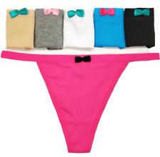 6 Pcs Womens Thongs Sexy Cotton G-string Panties Underwear V-string Pants,S M L