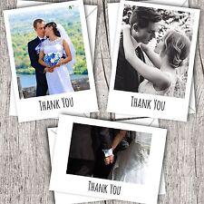 Wedding Thank You Cards • Your Photo • Personalised • Flat/Polaroid Style