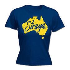 Straya Australia Map WOMENS T SHIRT tee birthday fashion gift funny slang