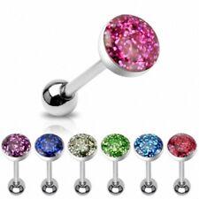 Zungenpiercing Multi Epoxy Kristall Schmuck Ball