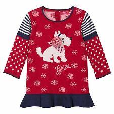 CHIPIE Robe Robe Tricot Logo chien rouge sans pompon 62 68 87 80 86 92 98