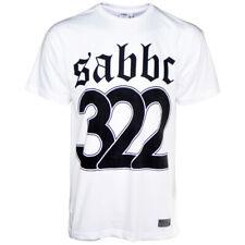 Nuevo Skull & Bones Boys Club sabbc bottomvert T-Shirt en Blanco
