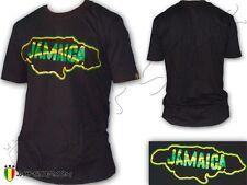 Tee-Shirt Rasta Jamaica Map Jamaique Jah Star Wear