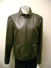 Kenneth Cole Reaction Black Short Lamb Leather Jacket L NWT