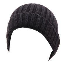 0105W cuffia bimbo WOOLRICH lana dark grey wool beanie hat boy kid