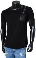 Rerock Party Herren Longshirt T-Shirt Lang 11114 oversized rundhals schwarz