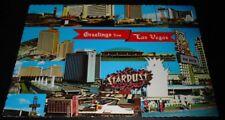 Vintage Postcard Las Vegas Strip Hotel & Casinos