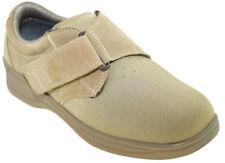 Orthofeet Women's Wichita Extra Depth Adjustable Strap Shoes Beige 824