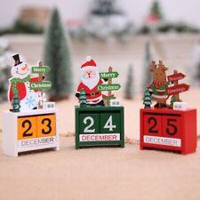 Nuevo Calendarios de Adviento de Navidad de Madera Decoraciones de Navidad  P5D3