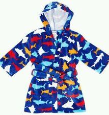 Boy's Wrap-Around Hooded Towel/Beach Cover-Up Shark Theme