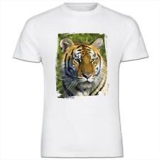 Tiger Face Mens Cotton T-Shirt