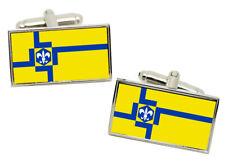 Lelystad (Netherlands) Flag Cufflinks in Chrome Gift box