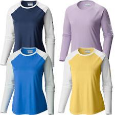 "New Womens Columbia ""Tidal Tee II"" Omni-Wick Long Sleeve T-shirt Top Tee"