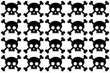 20 X Pegatinas Calavera Y Huesos Cruzados. Halloween, Piratas. Craft, álbum de recortes, Tarjetas