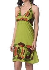 #SundayMarket Spring sundress Green Dress Size 8 10 12 halter neck Small Fit
