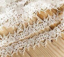 """Laverslace crudo Vintage Floral Daisy algodón Cluny Ganchillo Ribete de Encaje 1.75/""""//4.5cm"""