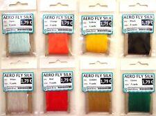 8x AERO FLY SILK  POLYPROPYLENE FINE YARN SET fly tying materials Set of 8 color