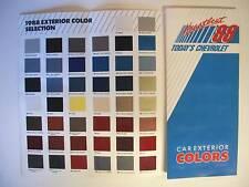 88 Chevrolet Car Exterior Color Chart Showroom Brochure