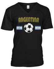 Argentina Country Flag Soccer Football Messi La Seleccion Mens V-neck T-shirt