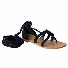 9250072938e Prada Women s Black Suede Leather Wrap Around Gladiator Sandals Shoes Sz 6  6.5 7