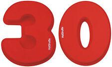 Gran Silicona número 30 Cake Tin Molde 30 Aniversario Perla Boda Aniversario