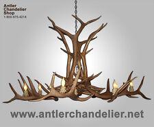 REPRODUCTION ELK ANTLER DEER CHANDELIER, 12 LIGHTS, CRL-12