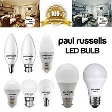 LED 3W 5W 7W 12W E27 E14 SES BC B22 ES GLS lámpara vela Golf Bombillas