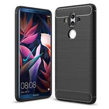 Huawei Mate 10 Pro Handyhülle Carbon Silikon Schutz Handy  Hülle Tasche Case