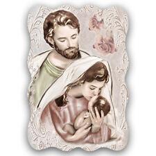 Sacra Famiglia Shabby | Pannello in legno sagomato disponibile in 3 misure