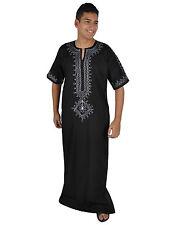 Moderner Herren Kaftan Hauskleid aus1001 Nacht in schwarz - KAM00636