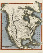 Old North America Map - North America - Walker 1820 - 23 x 28.5