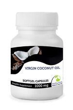 Virgin Coconut Oil 1000mg Vitamins 30/60/90/120/180/250 Softgel Capsules