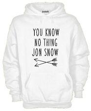 Felpa con cappuccio movie hoodie KJ772 You Know nothing Jon Snow Game of Thrones