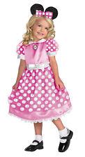MINNIE MOUSE Pink Girls Toddler Costume Polka Dot Dress
