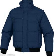 Delta Plus Panoply Randers Navy Blue Mens Quilted Bomber Jacket Coat Bodywarmer