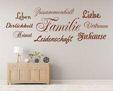 X251 Wandtattoo Spruch  Familie Zuhause Heimat Wandsticker Sticker Wandaufkleber