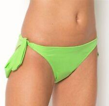 RESORT Bikini Bottoms Lime Green Wide Side Ties Hipster Swimwear DK502
