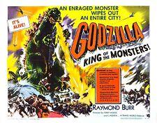 Godzilla Rey De Los Monstruos Vintage Movie Poster Tamaños A4 A0 E020 Reino Unido Vendedor