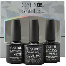 Nouveau CND Shellac séduisant Top Coats 7.3ml matte perle paillettes