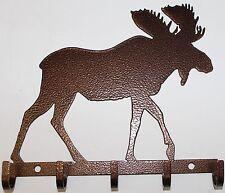 Moose Key Holder Metal Wall Art Home Decor