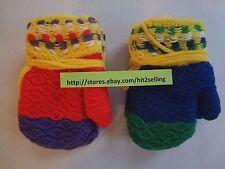 Soft Winter Boys Girls Gloves Knit Mitten Kids Children 2 Colors Usa Seller New!