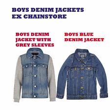 BOYS DENIM JACKETS EX CHAINSTORE, STYLISH, FASHION AND VERSATILE