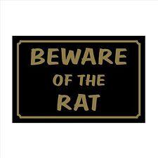 Beware of the Rat 160mm x 105mm Plastic Sign / Sticker - House, Garden, Pet