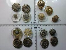 1 lotto bottoni gioiello strass smalti perle timone buttons boutons vintage g5