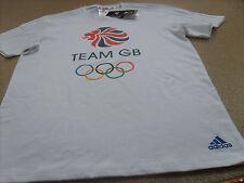 Official Adidas Olympics RIO 2016 Team GB Logo Men's White T-Shirt