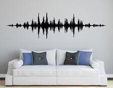 Wandaufkleber: Music Waves Kinderzimmer Sound Musik Techno Wohnzimmer WandTattoo