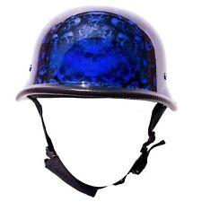 Blue German Novelty Motorcycle Helmet