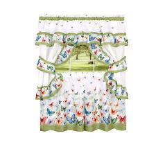 Butterflies Prairie Complete 5 Pc. Cottage Kitchen Curtain Set - Assorted Sizes